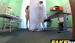 Fake Hospital Tall suntanned casing helter-skelter big natural tits swallows docs cum