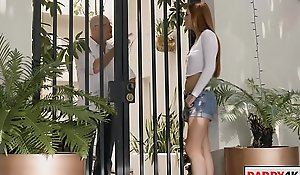 stepdaughter visits her stepdad