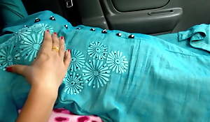 My mom Screwed in Car by uncle, risky public making love
