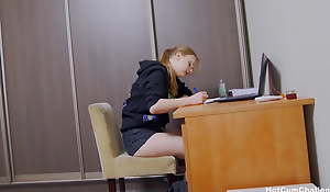 Daughter gets her first anal creampie after school