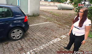German chubby amateur teen with big fat exasperation – normal girl