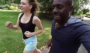 Teen Lyna Jade hook alongside on street by Joss Lescaf.Part1