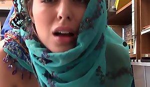 Teen Wearing Hijab All over objurgation Pilferage