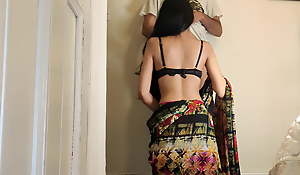 Desi Crammer fucking Doggystyle fro Her Student – Hindi