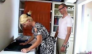 GERMAN STEP SON Inveigle MUM TO GET FIRST CREAMPIE FUCK