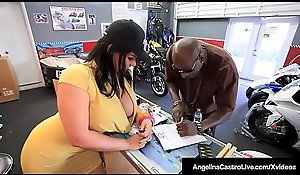 Cuban BBW Angelina Castro Sits First of all Big Malicious Horseshit Abhor useful anent A Sale!