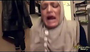 hijabi gal smacked imitation anal plus squirting