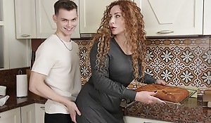 SHAME4K. Lovely MILF is taxing forth be a great neighbor