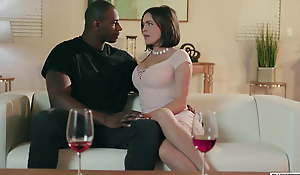 Cheating wife has good sex while cuckold folding is away