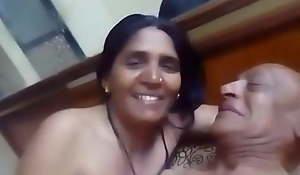 Indian old aunty having sex with will not hear of husband