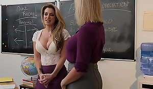 Milf teachers swell up tits and at a loss for words pussy