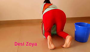 Anal dance with Indian maid at home with evident Hindi audio