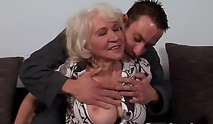 Leader granny fucked plus jizzed first of all hairypussy