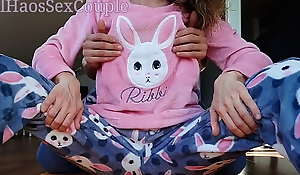 Sexy Statute Wet-nurse relative to Pajamas Compilation Teasing Spank Ass Handjob and Cumshot