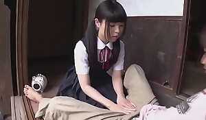 Young Petite Japanese Niece and Bill Sister Fuck Uncle`s Spotlight