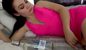 Tippler Breast-feed &_ Brother'_s Four Abstruse Live - POV, Young Girl, Brunette, Teen